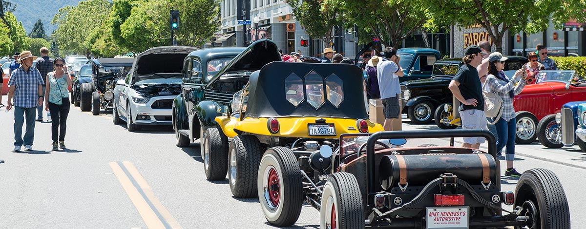 A La Carte and Art festival classic car show in downtown Mountain View, California
