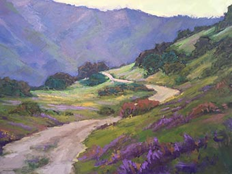 "Kathleen Robison painting ""A Days Hike"""