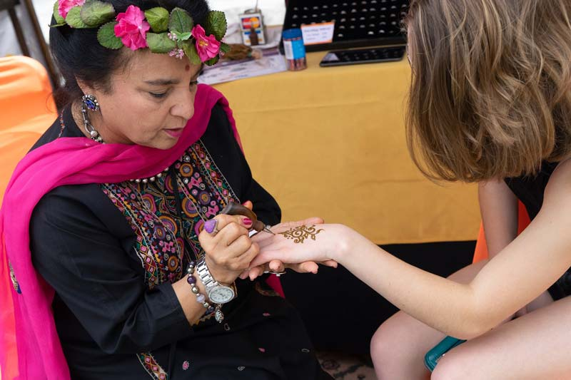 henna painting at Mountain View street festival