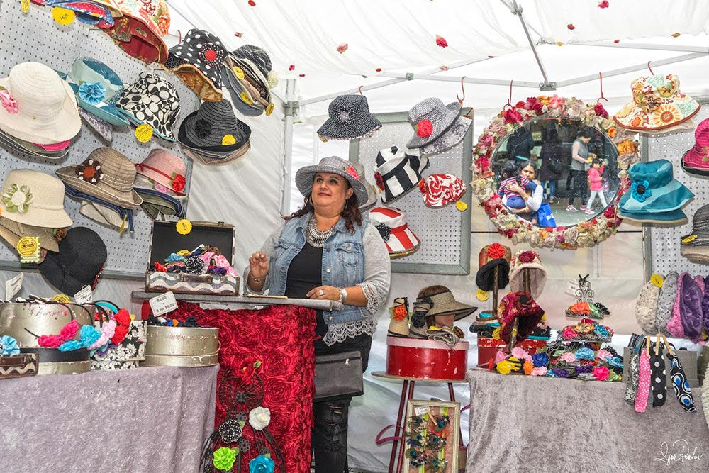 hat booth at Mountain View art festival