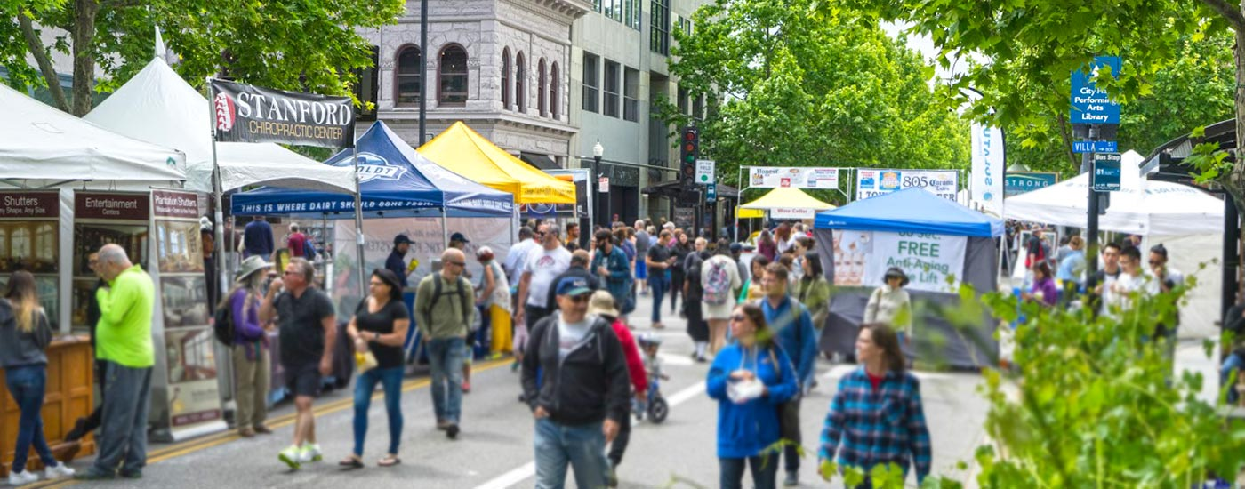 A La Carte & Art festival in downtown Mountain View, California
