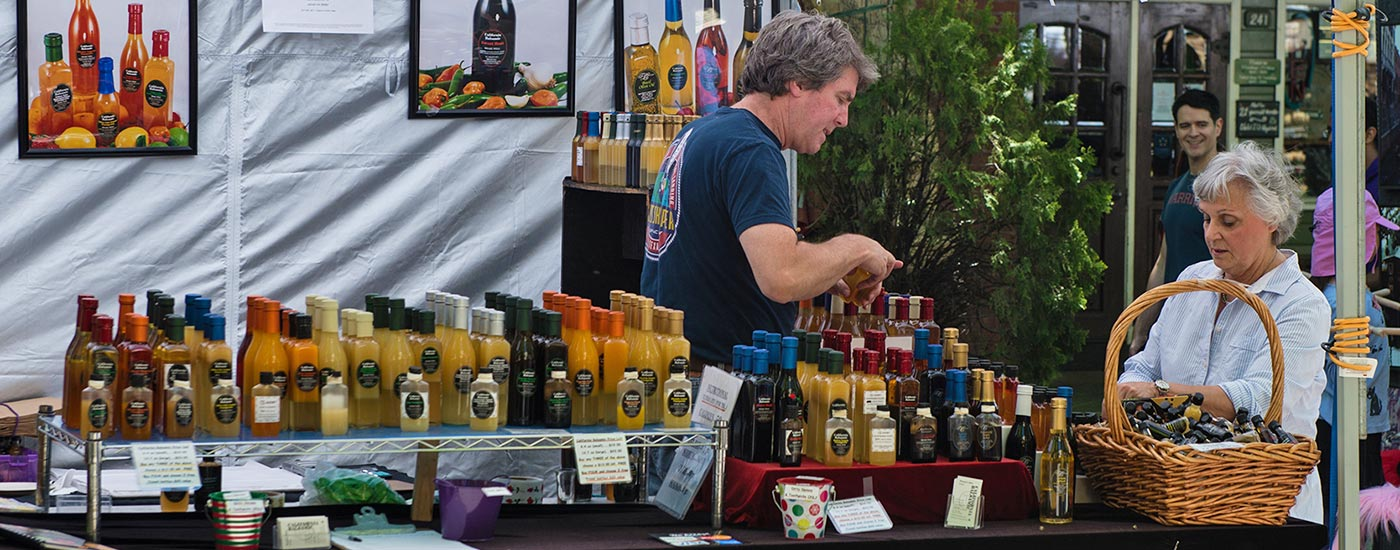 artisan specialty food at the A La Carte & Art festival in downtown Mountain View, California