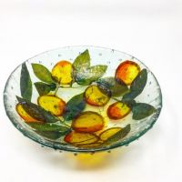 Margaret Dorfman plums in glass bowl