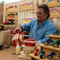 Wood toys and crafts booth