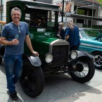 Classic Car Show: owner with Ford Model T