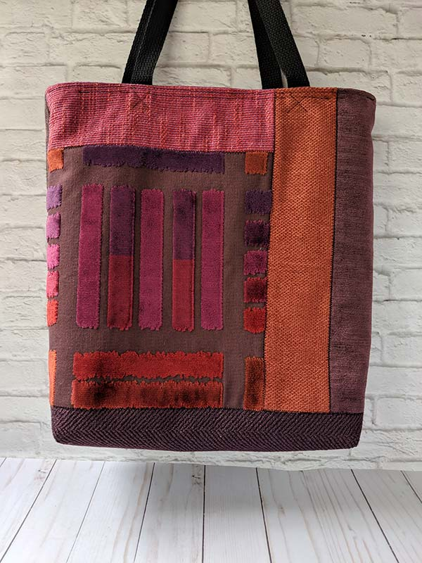 Zwia Lipkin upcycled fabric handbag