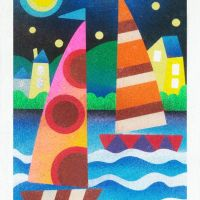 Color Cruiser sand art card