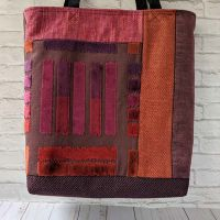 Zwia Lipkin upcycled fabric shopping bag