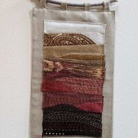 Zwia Lipkin upcycled fabric wall hanging